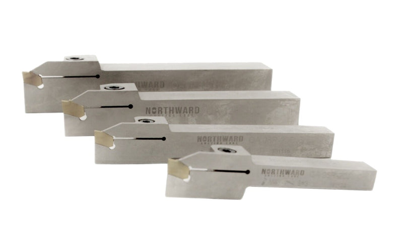 Right Hand Heavy-Duty Indexable Grooving & Cut-Off Holder, with Carbide GTN Inserts