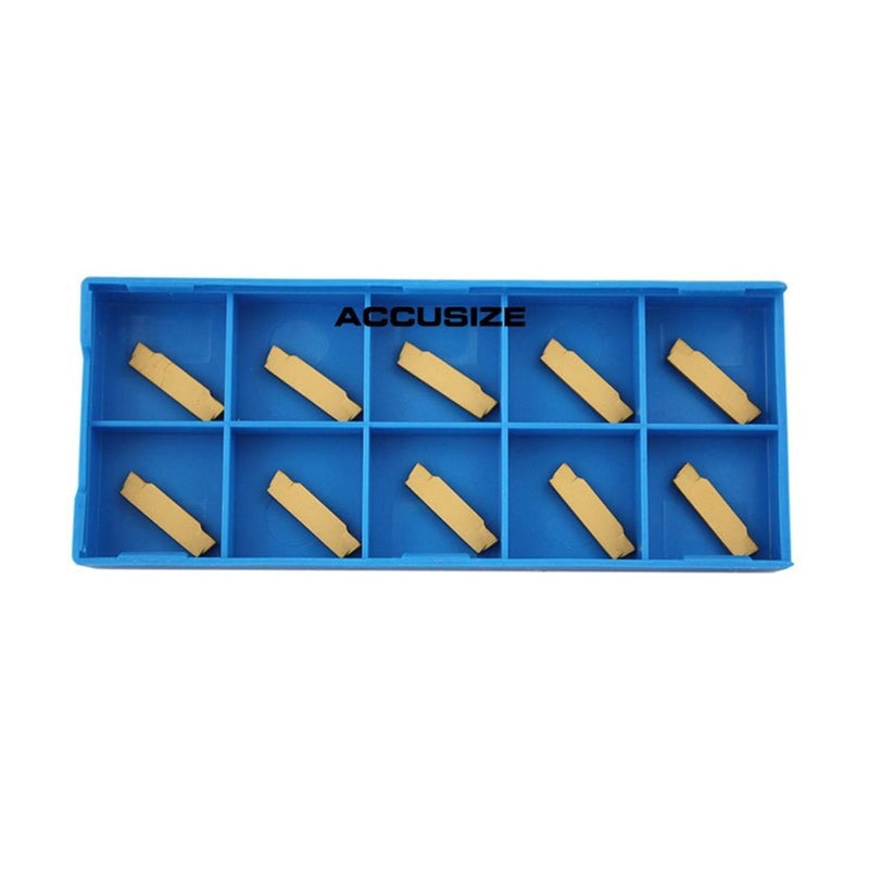 MGMN Double End Carbide Cut-Off Insert, Tin Coated, 10pc/set