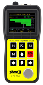 UTG-4000, Ultrasonic Thickness Gauge w/ A & B Scan and Thru Coating Capability