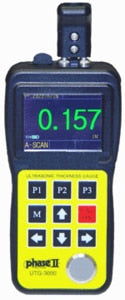UTG-3000, Ultrasonic Thickness Gauge w/A Scan-Color Waveform and Thru Coating Capability!