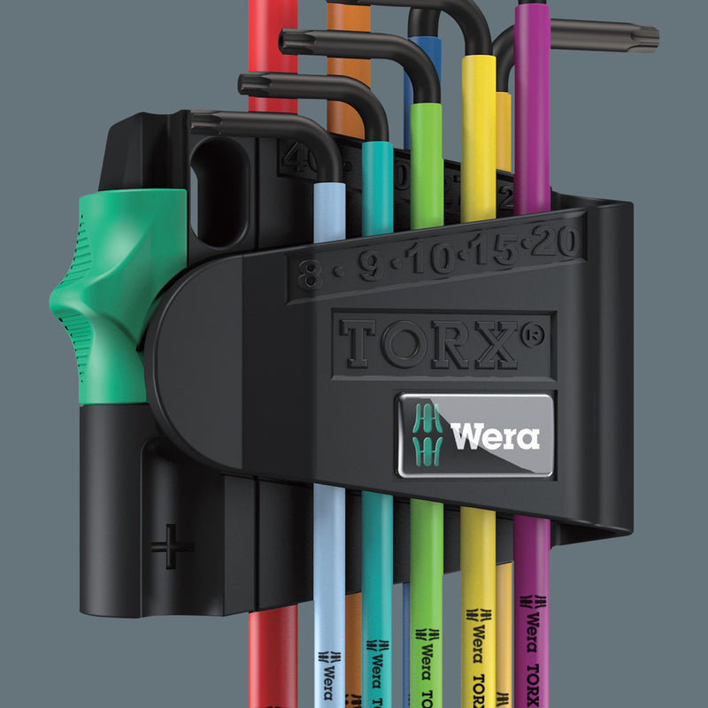 Wera 967/9 TX BO Multicolour 1 SB L-key set for tamper-proof TORX® screws, BlackLaser, 9pieces
