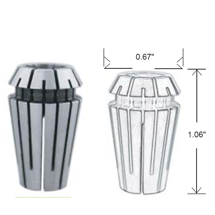 ER16 Collet Diagram
