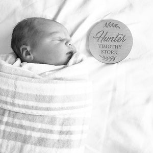 Birth Announcement Plaque Small