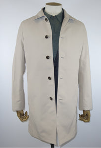 Chester Barrie Tailored Fit Rain Mac in Stone.