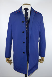 Chester Barrie Tailored Fit Rain Mac in Bright Blue.