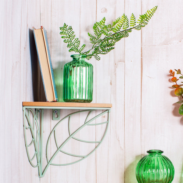 Corner Shelf Wire Leaf - KMHomeware