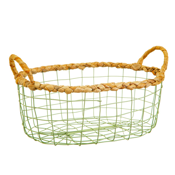 Wire Storage Baskets Green (set of 2) - KMHomeware