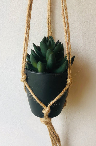 Faux Plant in Hanging Pot - KMHomeware