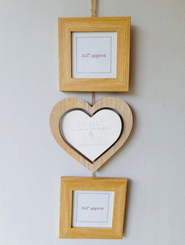 Photo Frame Hanging Heart - KMHomeware