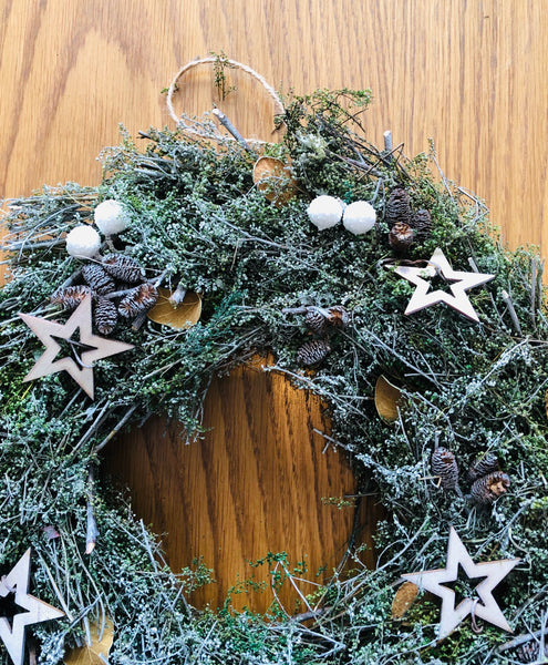Frosted Farmhouse Wreath - KMHomeware