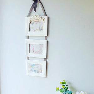 Photo Frame White Rose and Bow - KMHomeware
