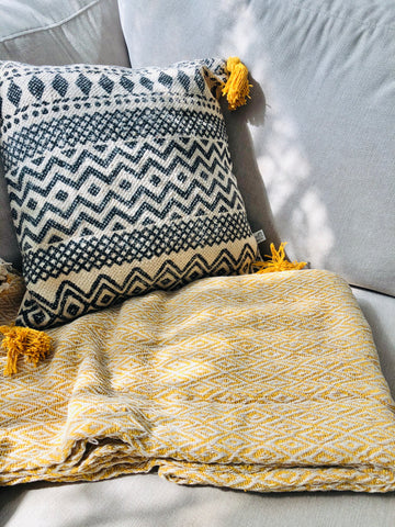 Throw Blanket Scandi Boho Style - KMHomeware