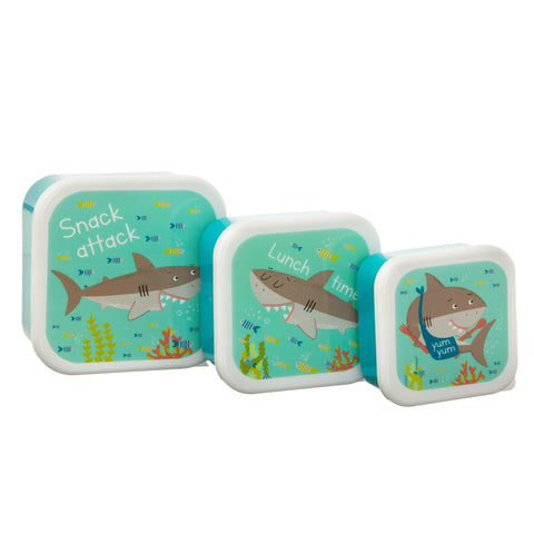 Children's Shark Lunch Boxes (3 Set) - KMHomeware