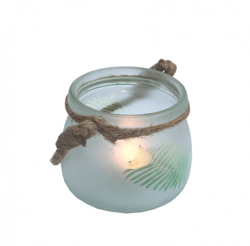 Small Candle Lantern with Rope Handle - KMHomeware