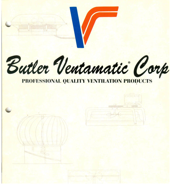 Front cover of a Butler Ventamatic Corporation booklet