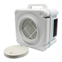AS1000WHT - 500 CFM 3 Stage Filtration HEPA Air Scrubber