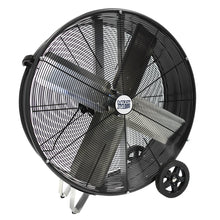 30 in. pro direct drive drum fan with metal housing in black finish.