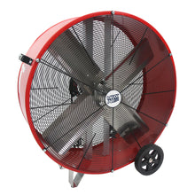 36 in. direct drive drum fan constructed of a heavy duty steel housing in powder-coated red finish.