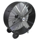 42 in. belt drive barrel fan with durable polyethylene housing in black finish.