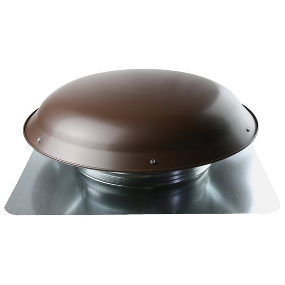 Profile view of the 2001 series roof mount power attic vent showing the steel dome.