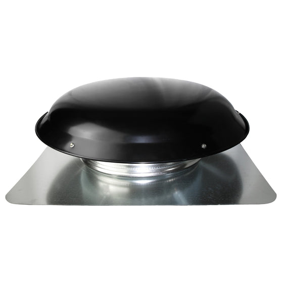 Profile view of the 3000 series roof mount power attic vent showing the steel dome.