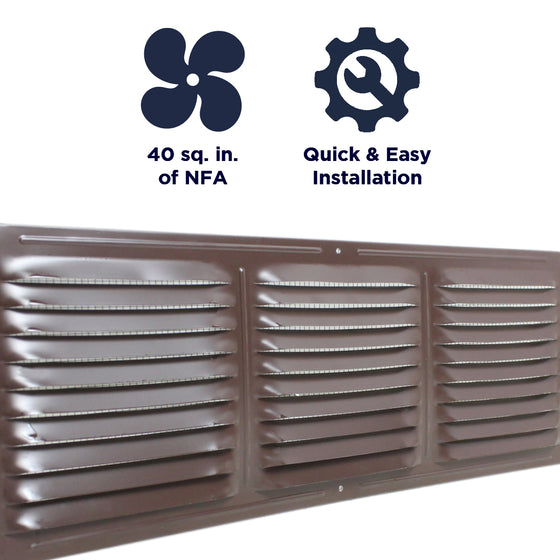 Features of the CX66 vent include providing 40 sq. inches of net free air, and a quick and easy install.