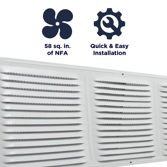 Features of the CX68 vent include providing 58 sq. inches of net free air, and a quick and easy install.