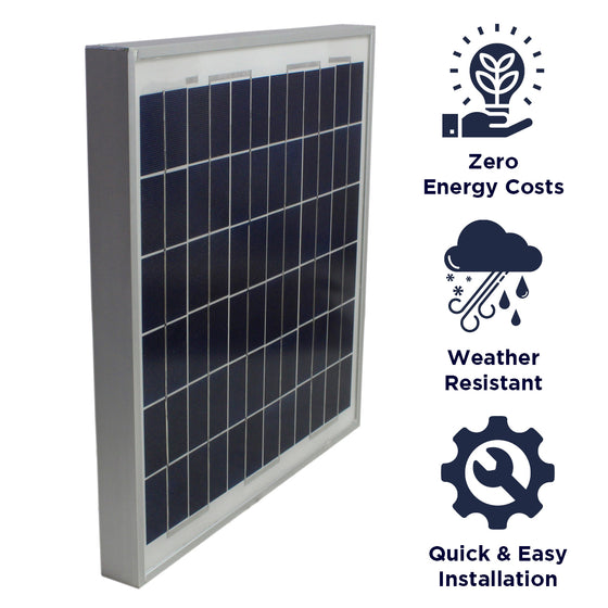 Features of the CXSOLPANEL include zero energy cost operation, weather resistant construction, and a quick and easy install.