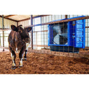 The Maxx Air 36 in. cooling fan provides comfort to cattle in a show barn.