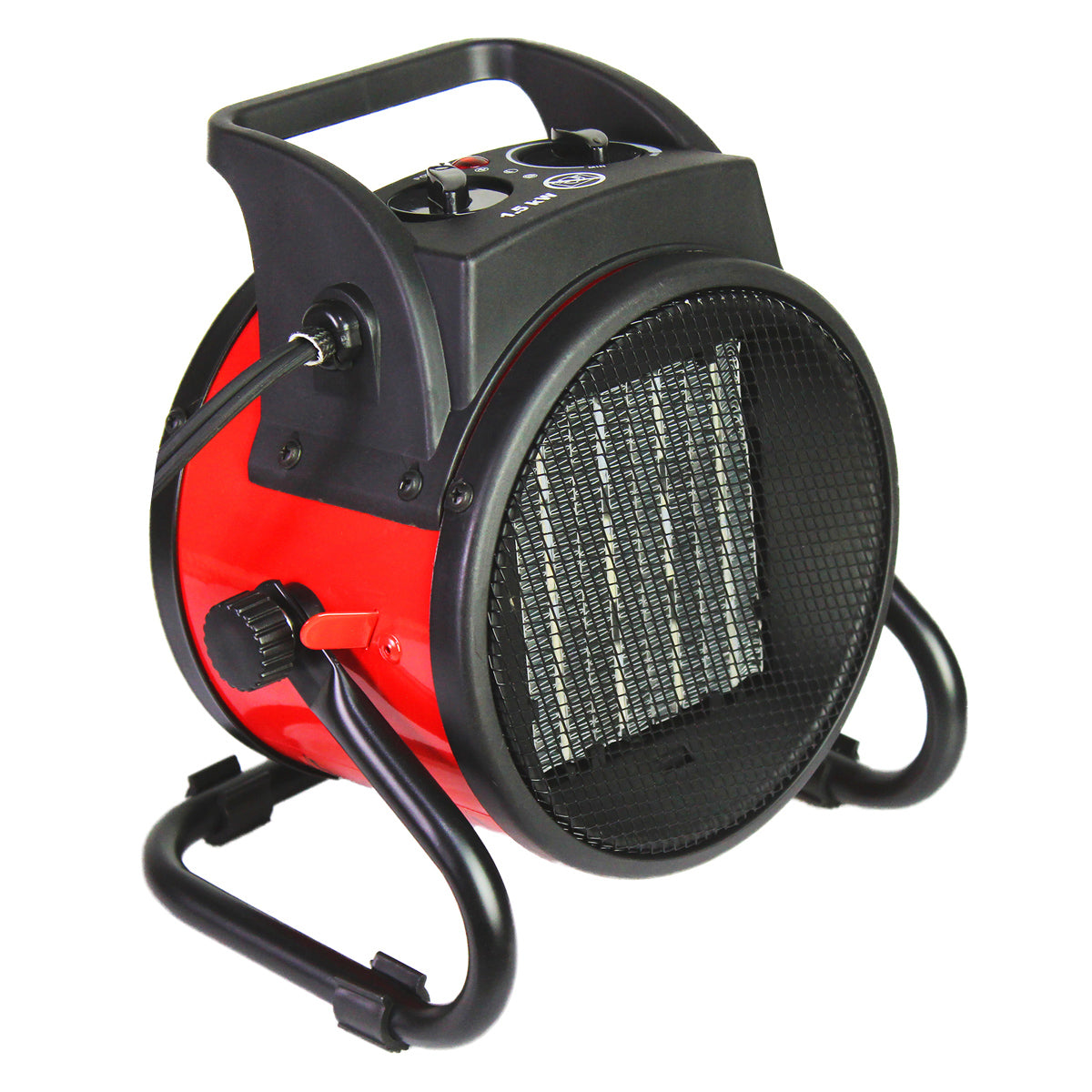 The HeTR 7 in. ceramic heater quickly warms up small college rooms and can also be used in warmer weather.