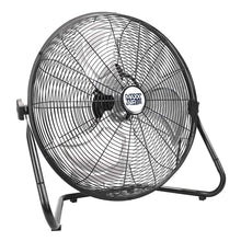 20 in. air circulator fan in powder-coated black finish for ease in cleaning.
