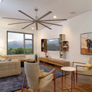 This large diameter indoor ceiling fan provides powerful air movement while remaining a stylish statement piece in your home.