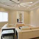 This indoor ceiling fan provides powerful air movement while remaining a stylish statement piece in your home.