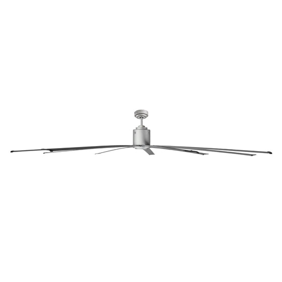 Side profile view of the 96 in. commercial ceiling fan showing the 6 in. downrod.