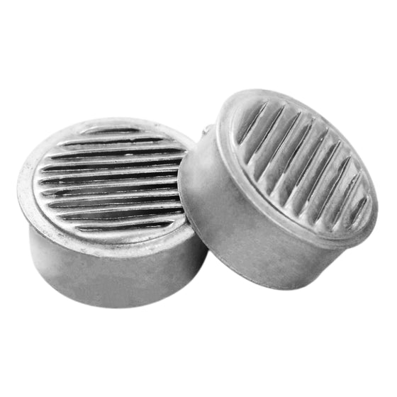 Two 1 in. mini vents showing the louvered design.