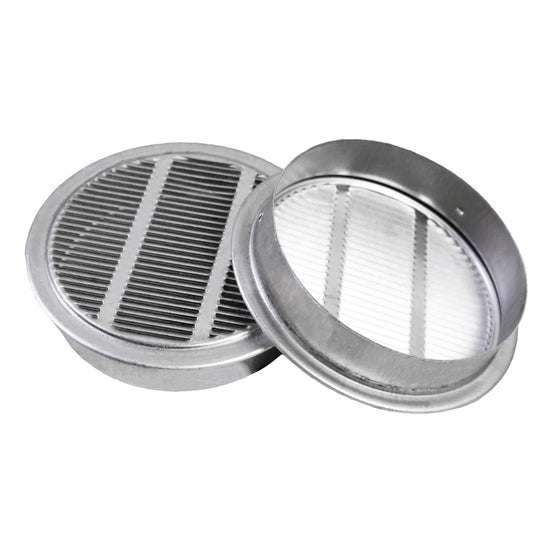 Two 3 in. mini vents showing the louvered design.