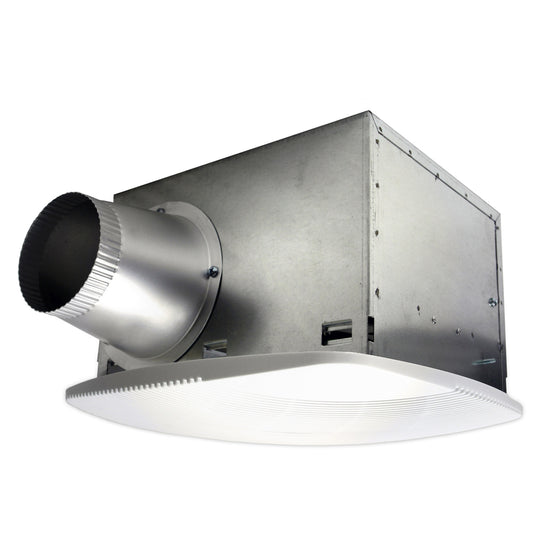 130 CFM fluorescent light SH Series bath fan with 4 in. duct.