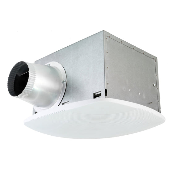 50 CFM non-lighted SH Series bath fan with 4 in. duct collar.