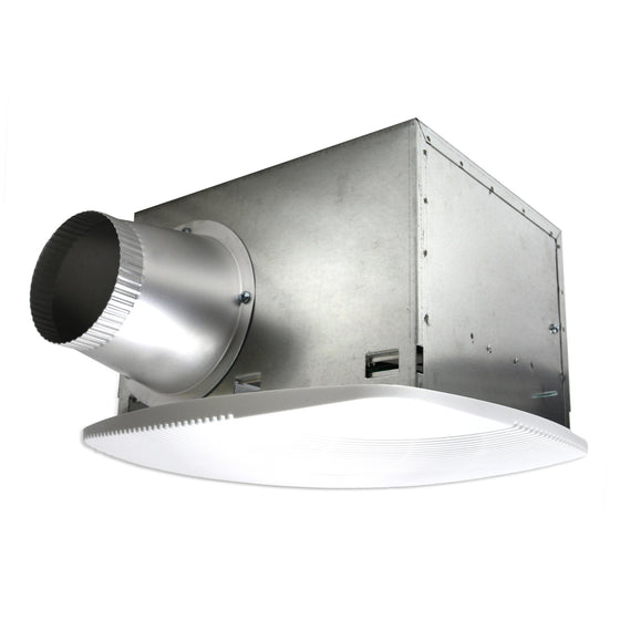 80 CFM non-lighted SH Series bath fan with 4 in. duct.