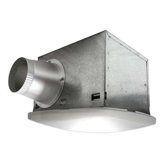80 CFM fluorescent light SH Series bath fan with 4 in. duct.