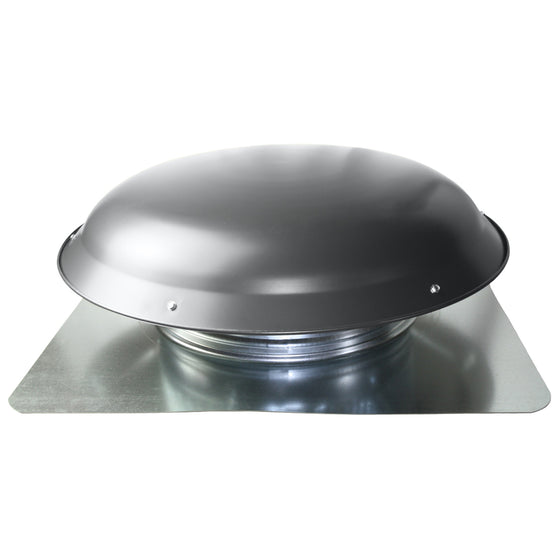 Profile view of the 2414 series roof mount power attic vent showing the aluminum dome.