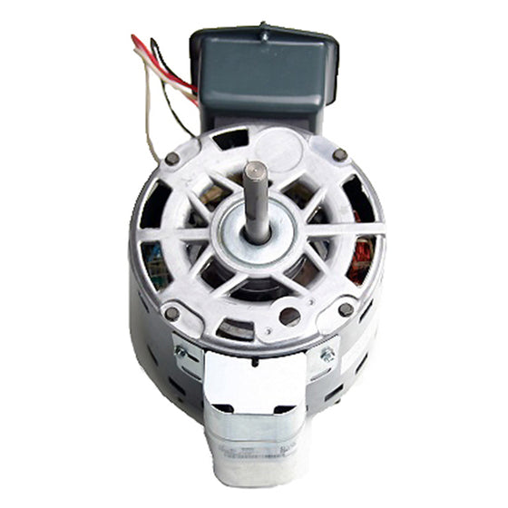 Angled view of the direct drive whole house fan motor.