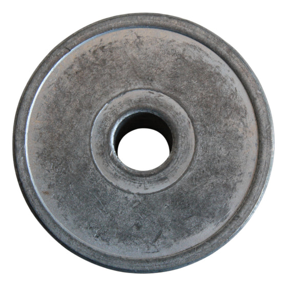 Back of steel pulley.