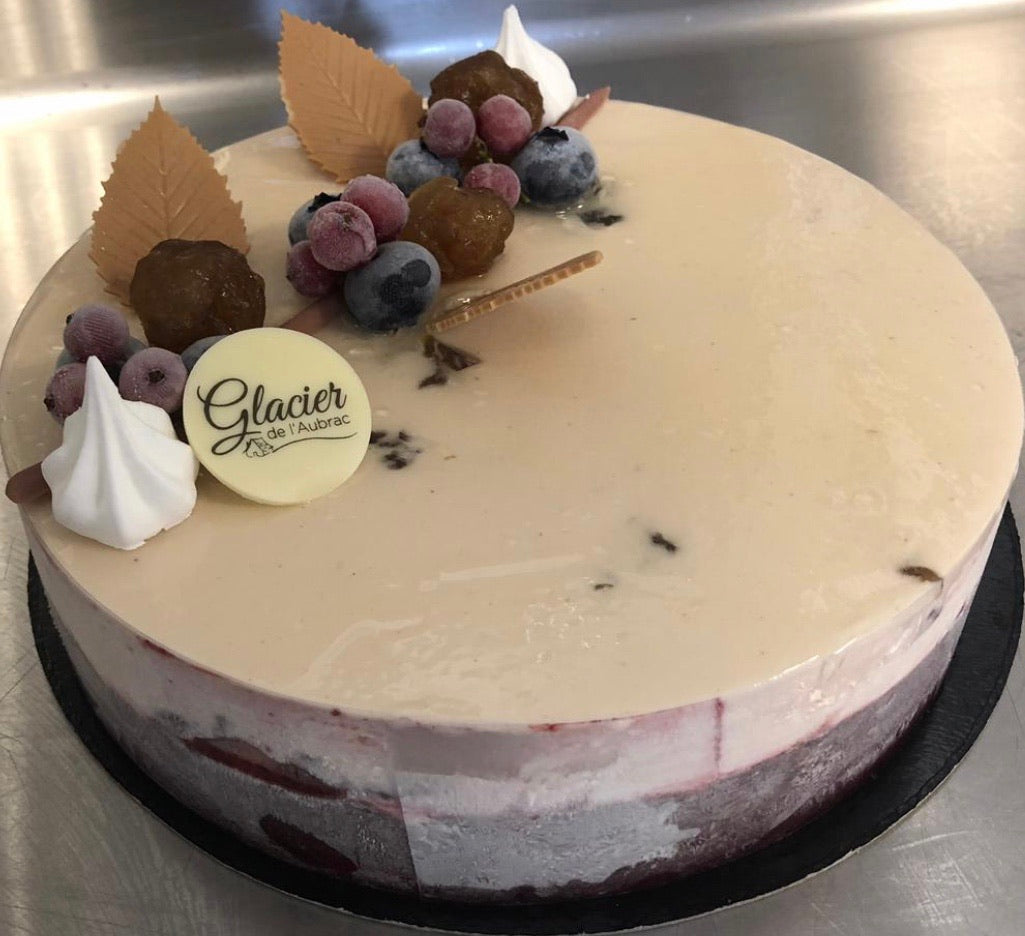 Entremet Glacé Marron Cassis 6 Parts