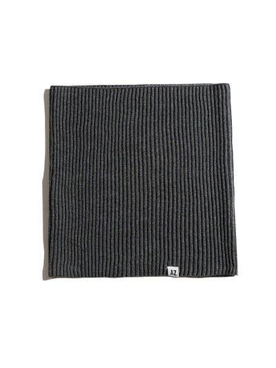 Unisex Knitted Snood Charcoal Grey Merino Wool x Refibra