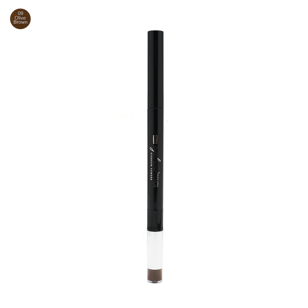 Miniso 2 in 1 Eyebrow pencil + Eyebrow Powder (09 Olive Brown)