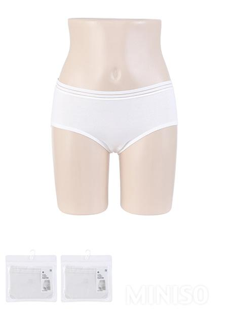Miniso Hollow Cotton Ladies Briefs L (White)