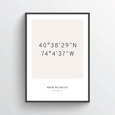 Personalized Coordinates Poster Print With Latitude and Longitude