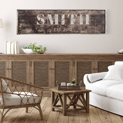 Family Name Sign Farmhouse Wall Decor