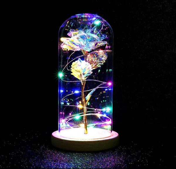 LED Enchanted Galaxy Rose Eternal 24K Gold
